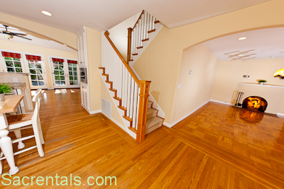 Different hardwood floors in different rooms commonly Different tiles in different rooms