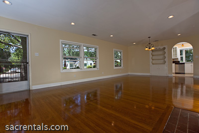Built In Ceiling Lights: Open plan Living room / Dining room - Built-in hutch. Hardwood floors -  Recesed ceiling lights,Lighting