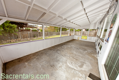 Covered And Partially Enclosed Patio